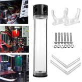 G1/4 T 50mm x 240mm Reservoir Helix Suspension Water Liquid Cooling Tank