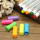 6Pcs Kleuren Highlighter Fluorescent Gel Solid Paint Pen Tekening Graffiti Marker
