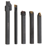 5pcs 10mm Shank Lathe Turning Tool Holder Boring Bar CNC Tools Set with Carbide Inserts and Wrenches