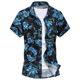 Summer Fashion Floral Lounge Short-sleeved Casual Holiday Men Beach Shirts S-4XL