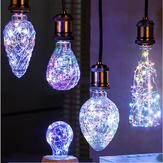 E27 3W vendimia Edison LED bombilla demócrata de vacaciones multicolor para la fiesta de Navidad AC85-265V