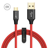 BlitzWolf® AmpCore Turbo BW-MC8 2.4A Braided Durable Micro USB Charging Data Cable 6ft/1.8m