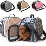 Portátiles gato perro pequeño bolso de viaje cara portadora casa de bolsa de hombro jaula