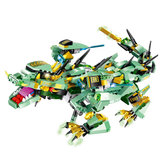 MoFun Green Battle Dragon 2.4G 4CH RC Robot Infrarouge Control Block Bâtiment Robot Jouet Assemblé