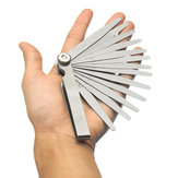 Metric Steel 13 Blade Feeler Gauge 0.05 to 1.0mm Spark Plug Measure Gap Tool Set