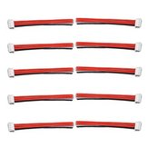 Original 10PCS 2.54XH 22AWG 13CM 3S 4Pin Balance Cable Silicona Alambre para Lipo Baterías