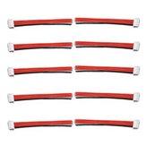 Original 10PCS 2.54XH 22AWG 13CM 3S 4Pin Balance Cable Silicona Alambre para Lipo Baterías
