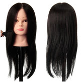100% Black Practice Mannequin Real Human Hair Training Head Hairdressing Cutting Clamp Holder