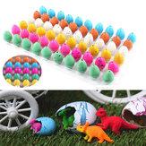 60PCS Magia El agua que crece el huevo de los huevos de los huevos del dinosaurio juega el regalo de los niños de la Navidad