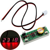 Digital LED Electronic Clock Time Temperature Voltage 3 In 1 For Car Electronic