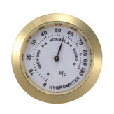 Analog Hygrometer Cigar Humidity Calibration Gauge With Glass Lens for Humidors