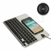 2 In 1 Qi Wireless Charger+7 Colors Backlit bluetooth Keyboard For iPhone/iPad/Samsung/iOS/Android