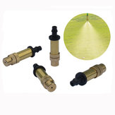 Garden Brass Adjustable Sprinkler Lawn Atomizing Irrigation Watering Sprayer Nozzle for 4/7 Tube