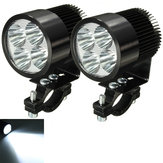 2pcs 12W 6000K LED Daylight Headlamp Spotlight Motorcycle Scooter Car Truck Van