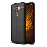 Bakeey™ Litchi Pattern Shockproof Soft TPU Back Cover Protective Case for Xiaomi Pocophone F1