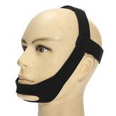 Cinturón de la Mandíbula Barbilla Antironquido Anti Apnea Elástico Soporte Solucionar el Sueño