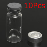 10Set 10ml Vials Bottles with Stopper Caps for 20MM Hand Crimper Seal Ring Machine