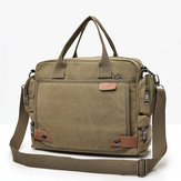 Men Multi-function Canvas Business Laptop Bag Briefcase Handbag Shoulder Bag