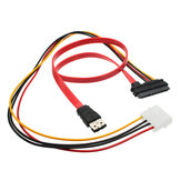 7 + 15 Interface SATA 22pin vers le câble ESATA Large 4Pin Power Interface Conversion Cable