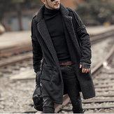 Men's Plus Size Wool Blend Double Side Wearable Thicken Coat