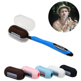 IPRee® 2 In 1 Lazy Mini Toothbrush Cover Finger Tip Shaver Razor Cleaning Tool Kit Outdoor Travel