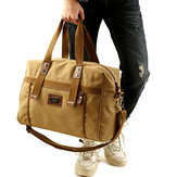 Men Canvas Vintage Travel Holdall Bag Large Capacity Shoulder Bag Weekend Bag
