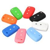 Original 2 Botones Coche Control remoto Llave Caso Silicona Cubierta de goma Fob Shell para Nissan Qashqai