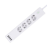 Bakeey 4 Plug 4 USB Interface Smart Home Power Strip Support Tuya APP Remote Control Wireless Timing  Switch