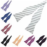 PenSee Men's Bow Ties Leisure Stripe Paisley Jacquard Woven Silk Neckties Accessory