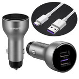 HUAWEI AP38 Quick Charge Car Charger Fast Charging Dual USB + Type C Cable