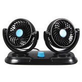 Original 12V Adjustable Double 360 Degrees Mini Oscillating Fan Rotation Cooling Fan Air Conditioner