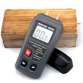 Lcd numérique portable bois humidimètre broches intégrées d'énergie automatique 0 ~ 99.9% sur EMT01 bside