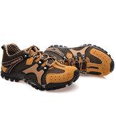 Hombres de malla de senderismo resistente al deslizamiento de metal hebilla deporte al aire libre zapatillas