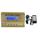 Original HTRC B6 V2 80W 6A Digital Batería Cargador de equilibrio Cargador con fuente de alimentación