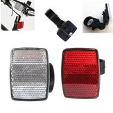 Red Silver Bicycle Bike Cycle Satellite Cycling Safety Front Rear Reflectors