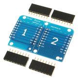 WeMos® Double Socket Dual Base Shield For WeMos D1 Mini NodeMCU ESP8266 DIY PCB D1 Expansion Board
