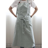 Original Japanese Solid Color Linen Cotton Vintage Pinafore Dress