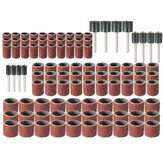 102pcs 120 Grit Sanding Drum Kit With 1/2 3/8 1/4 Inch Sanding Mandrels Fit Dremel Rotary Tools