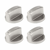 4Pcs Kitchen Gas Stove Oven Alloy Rotary Switch Controller Range Knob 4cm Dia
