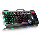 104Keys USB Wired Backlit Mechanical Hand-feel Gaming Keyboard Mouse Mouse Pad Set