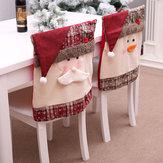 Original SantaClausbordadasillacubiertatrasera para Navidad cocina cena silla cubiertas cubre