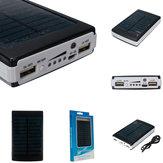 10000mAh doble USB Solar cargador externo Batería Banco de energía portátil para teléfono celular