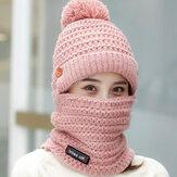 Women Winter Warm Plush Thicken Knit Beanie Hat