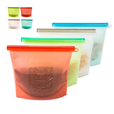 Reusable Silicone Food Fresh Bags Fridge Food Storage Containers Refrigerator Sealed Bag Kitchen Vegetable Fruits Ziplock Bags Silicone Vacuum Food Fresh Bags