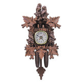 Owl Bird Decorations Home Cafe Art Chic Swing Vintage Wood Cuckoo Wall Clock