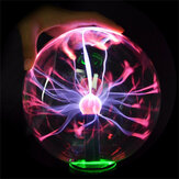5 Inch Upgrade USB Music Plasma Ball Sphere Light Crystal Light Magic Desk Lamp Novelty Light Home Decor