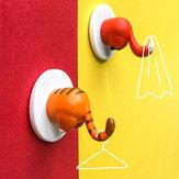 Honana Lovely Animal Tail Rubber Hook Key Towel Hanger Holder Home Hooks