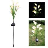 Énergie solaire extérieure Calla Lily Fleur blanche LED Garden Yard Lawn Landscape Lampe Holiday Light