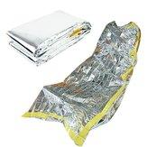 Saco de Dormir de Emergencia Ultraligero Portátil de Aislamiento de Supervivencia de Rescate para Camping al Aire Libre Manta de Plata