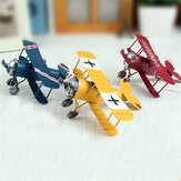 Zakka Plane Toy Classic Model Collection Childhood Memory Antique Tin Juguetes Decoración para el hogar